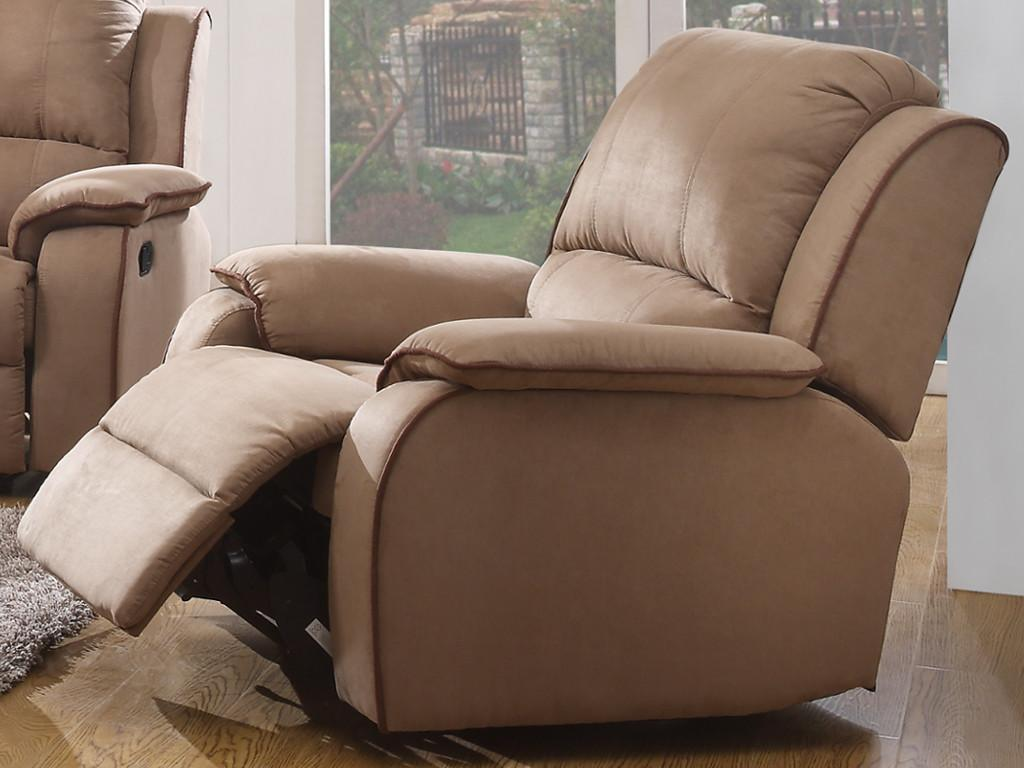 Kauf-Unique Relaxsessel Fernsehsessel HERNANI - Taupe 100353