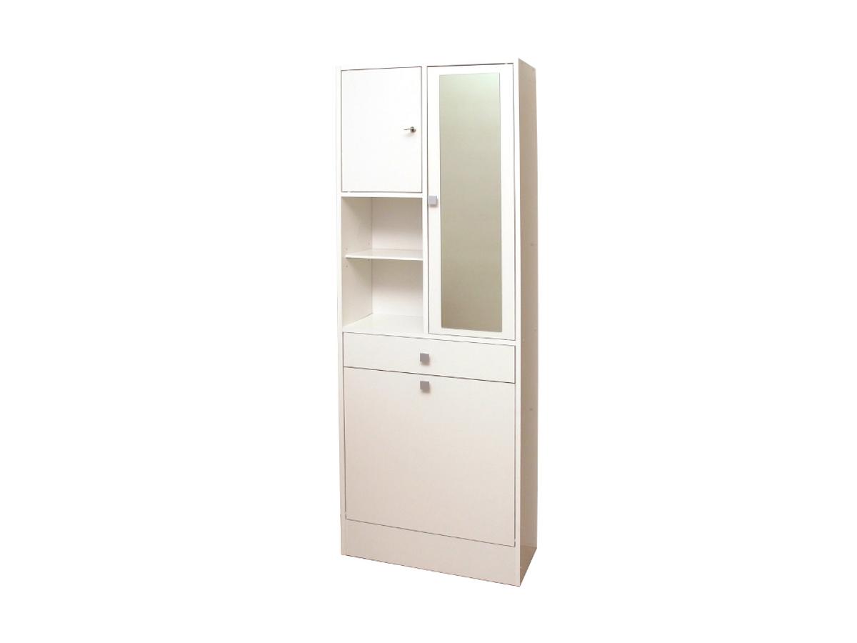 Kauf-Unique Badezimmerschrank mit Wäschekippe Plizz - Weiß 88697