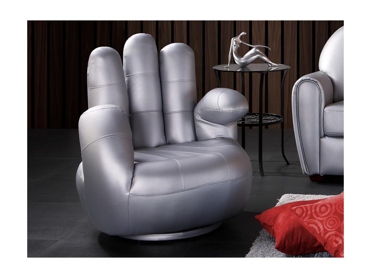 Fingersessel Catchy - Drehbar - Silber