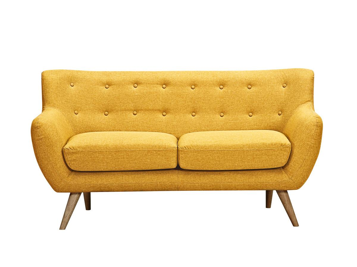 2-Sitzer-Sofa Stoff Serti - Honiggelb