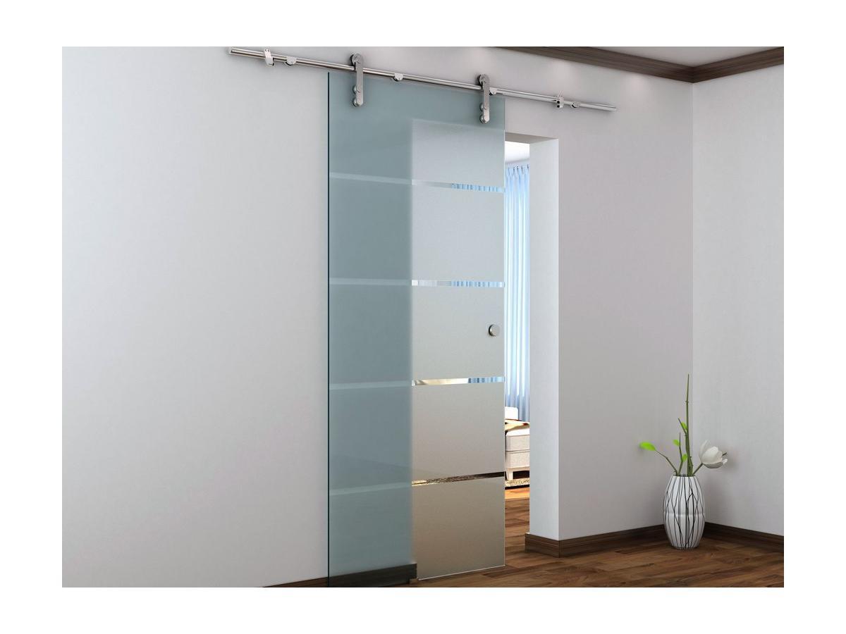 Porta Scorrevole Esterno Muro Glassy 205x83 Vetro Temperato