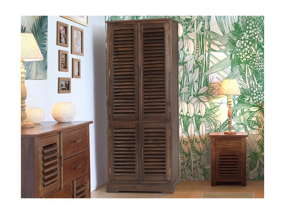 Kauf-Unique Kleiderschrank Massivholz Bali II - 4 Türen 166203