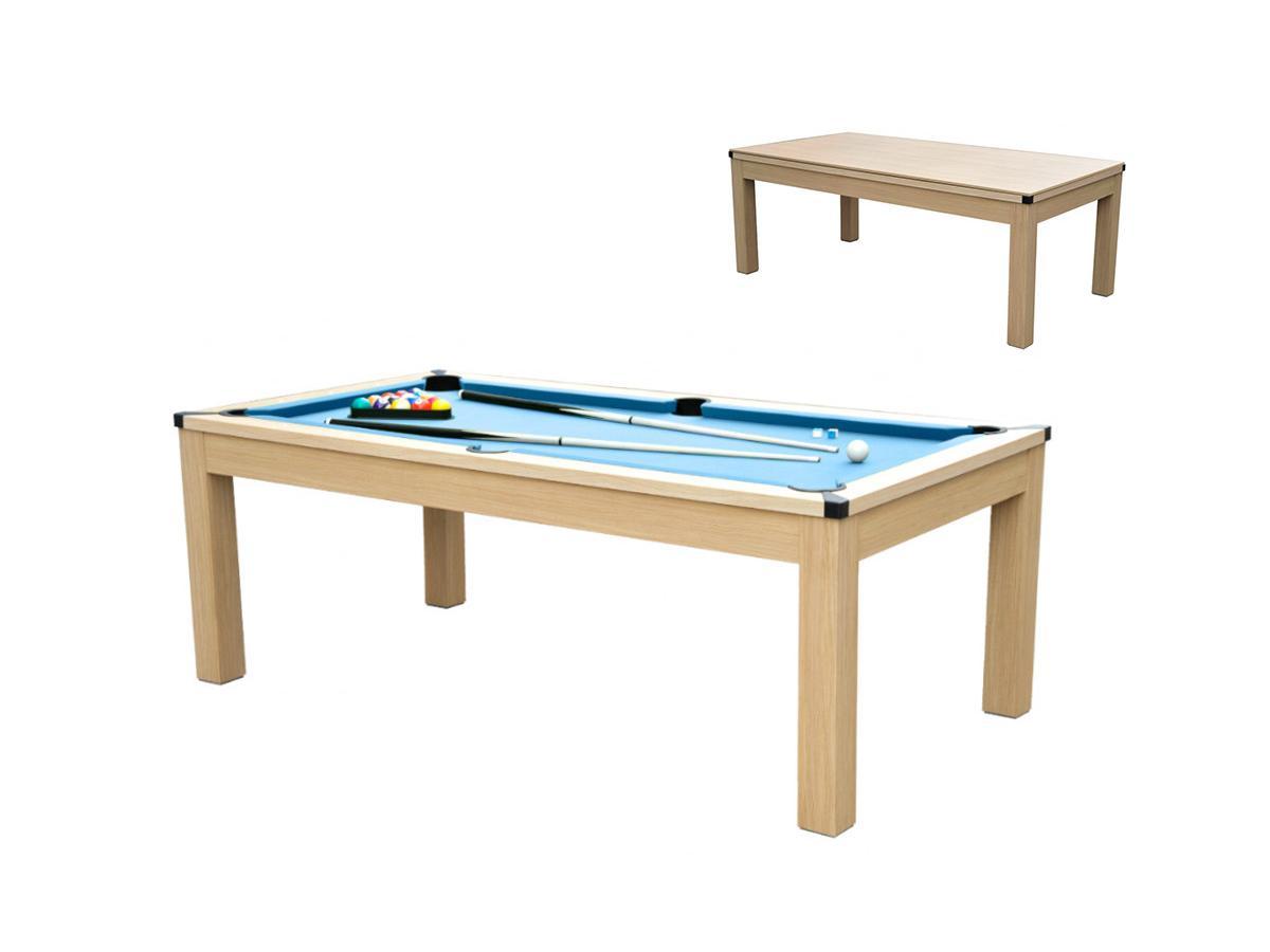 Multifunktionstisch Billard, Tischtennis & Esstisch BALTHAZAR - Blau