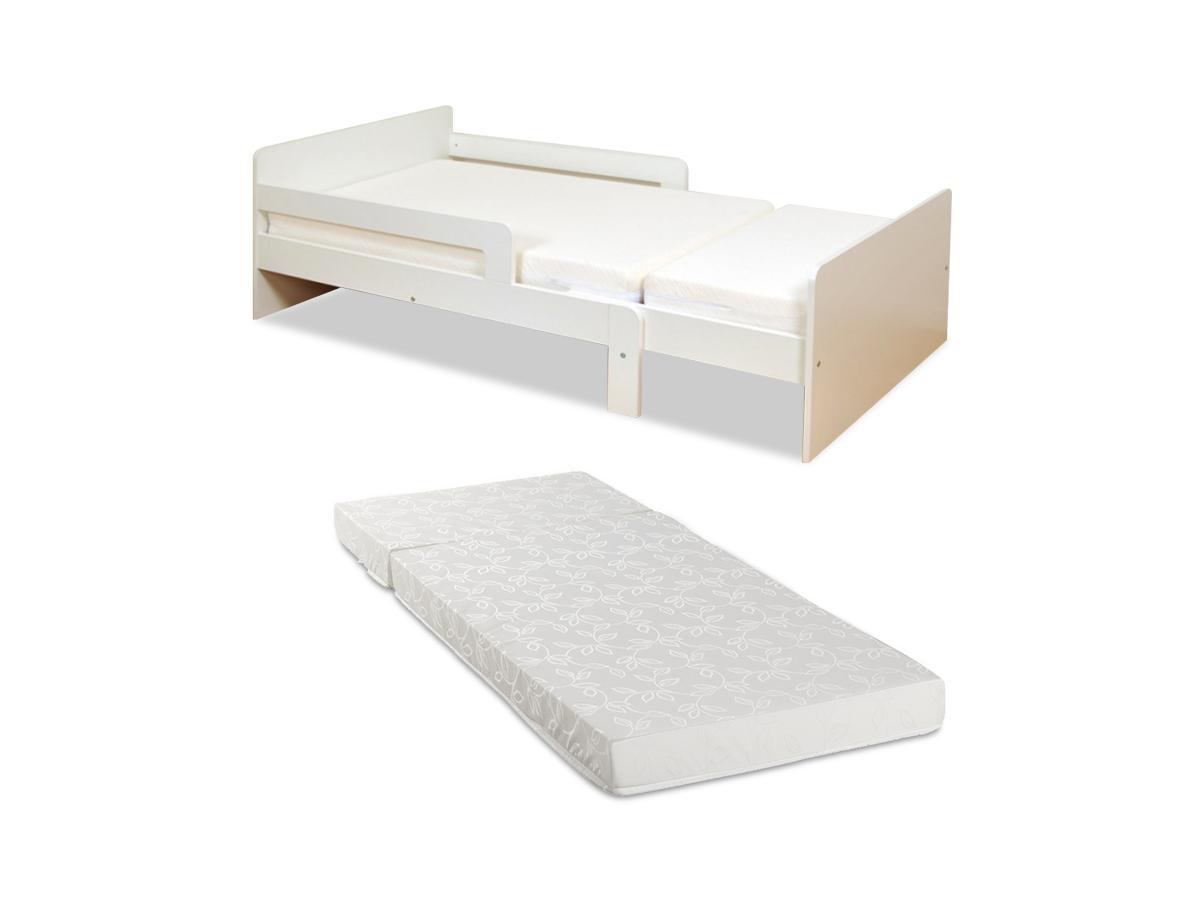 Kauf-Unique Set Ausziehbett ZELLY + Lattenrost + Matratze - ausziehbar 90x140-90x200cm 270293