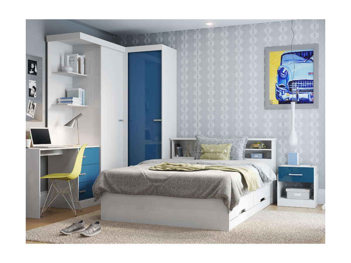 Kauf-Unique Bett mit Lattenrost & Bettkasten Boris - 140x190cm 258629