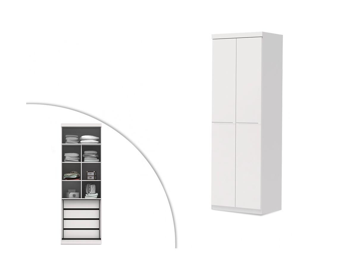 Kleiderschrank Alvin - 2 Türen