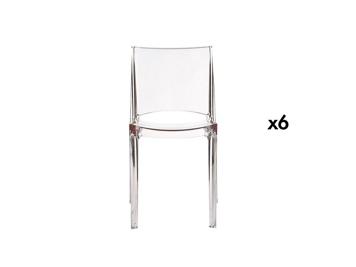 Kauf-Unique Stuhl 6er-Set Helly - Transparent 269151