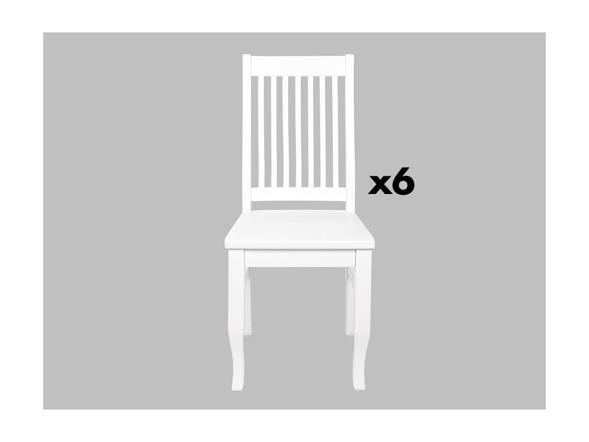 Kauf-Unique Stuhl 6er-Set Massivholz Gerande 273377