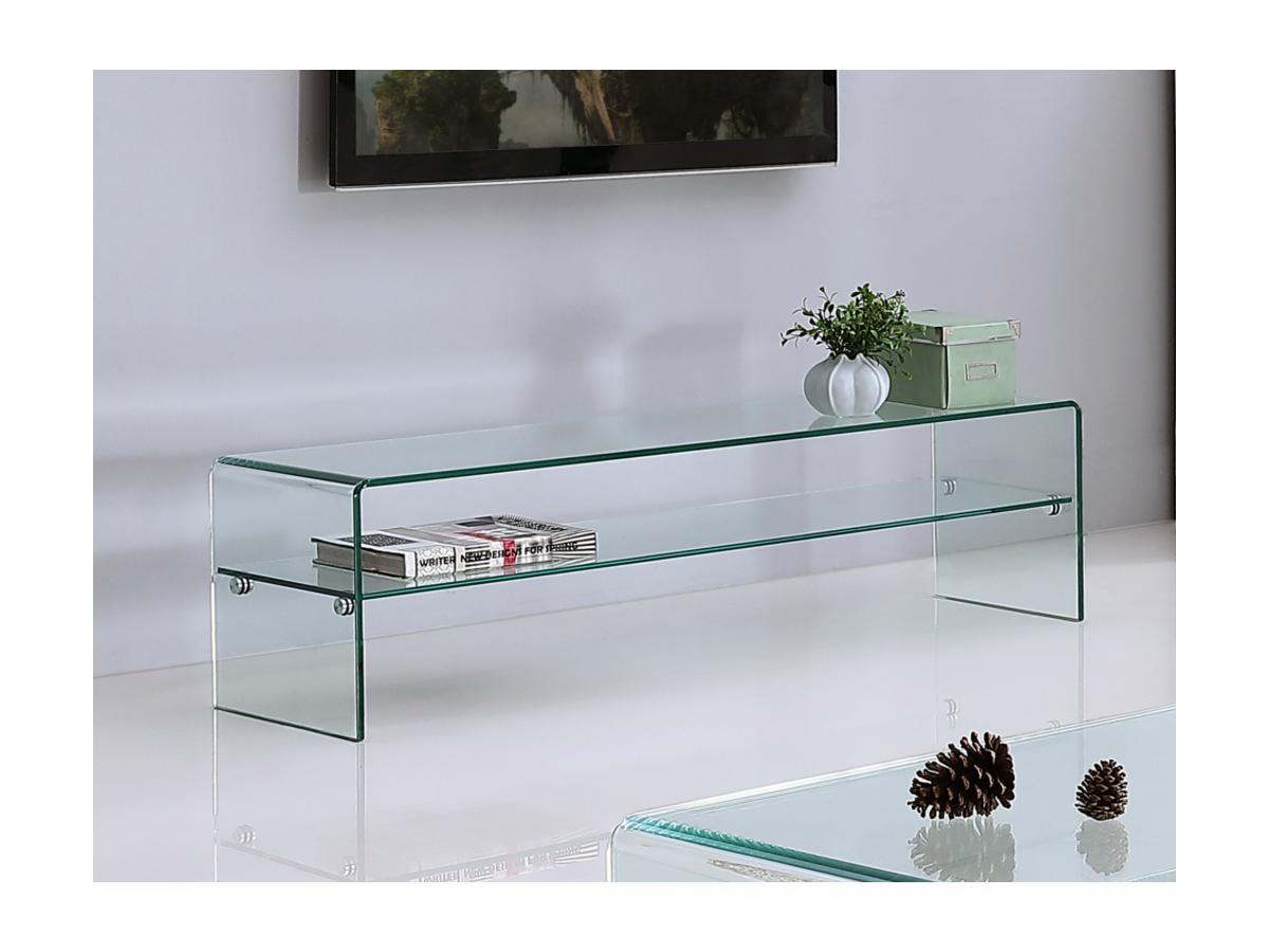 TV-Möbel Glas STILEOS