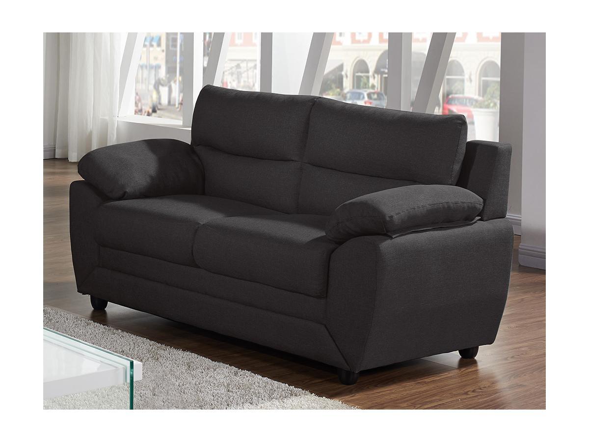 Sofa 2-Sitzer Stoff MANOA - Anthrazit