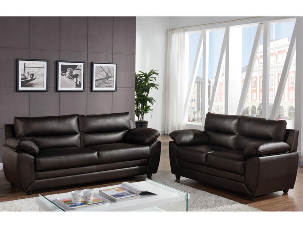 Kauf-Unique Couchgarnitur 3+2 MANOA - Braun 284019