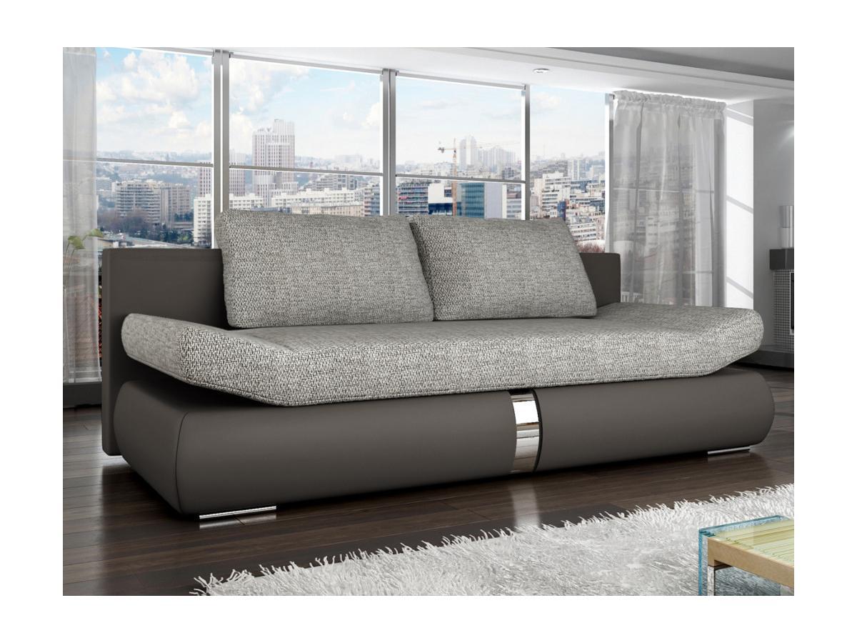 Schlafsofa 2-Sitzer JADEN - Taupe & Grau