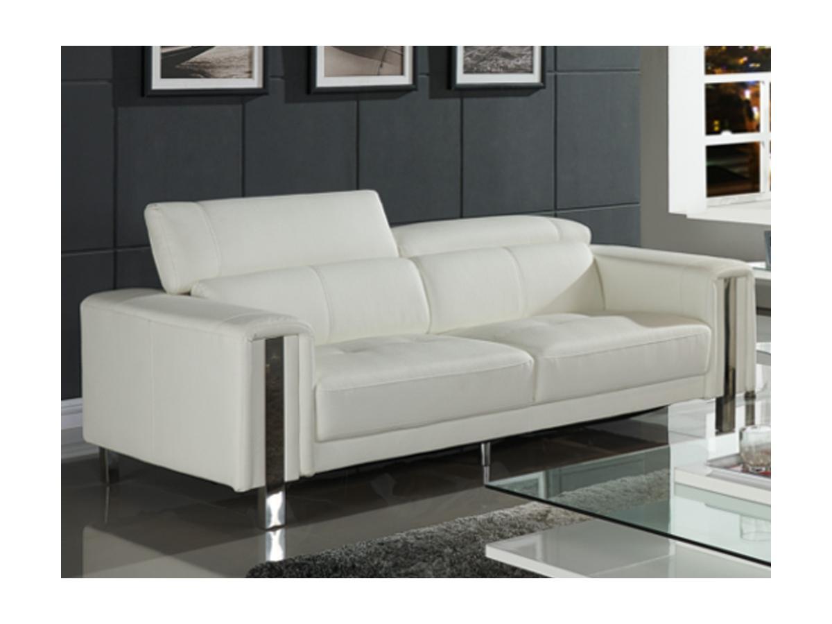 Sofa 3-Sitzer MAROUA - Weiß