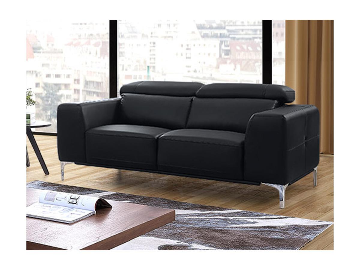 Sofa 2-Sitzer Wanaka - Schwarz
