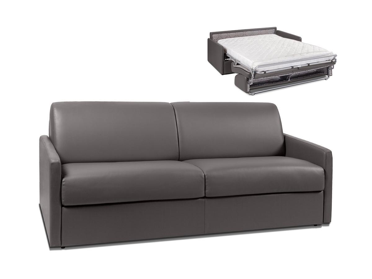 Schlafsofa 4-Sitzer CALIFE - Grau - Liegefläche: 160 cm - Matratzenhöhe: 14cm
