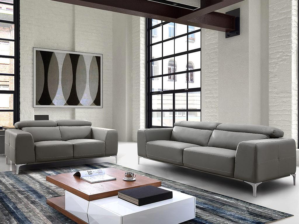 Kauf-Unique Couchgarnitur 3+2 Wanaka - Grau 338867