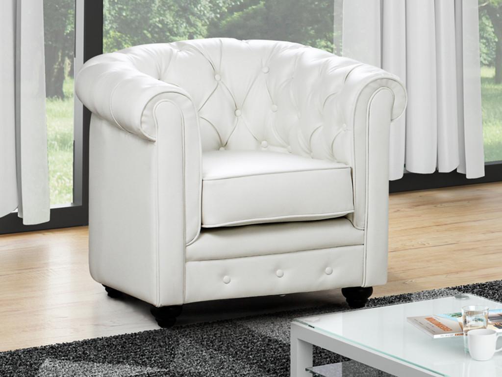Kauf-Unique Sessel CHESTERFIELD - Weiß 366633