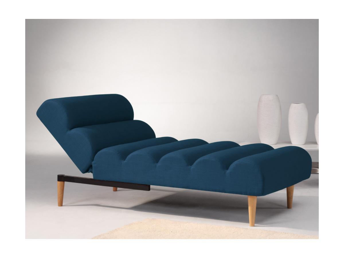 Kauf-Unique Recamiere mit Schlaffunktion CIVAL - Stoff - Blau 368923
