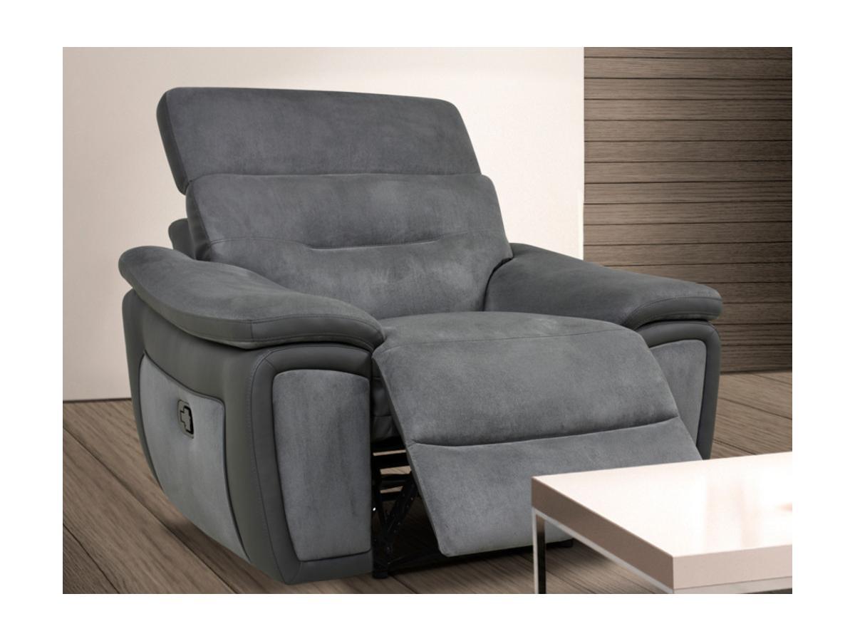 Kauf-Unique Relaxsessel Fernsehsessel PARUA - Grau 429611