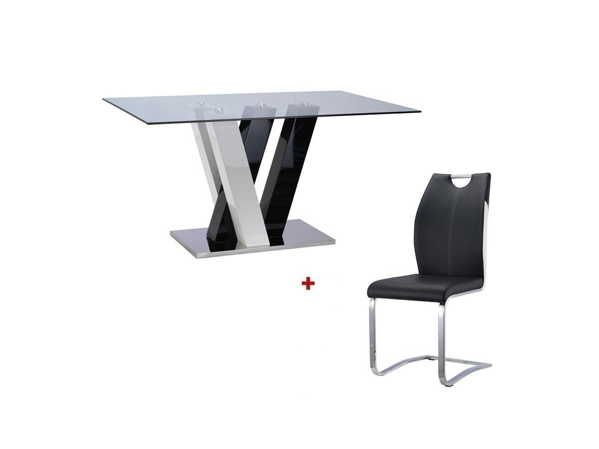 Kauf-Unique Sparset WINCH: Esstisch + 4 Stühle 369405