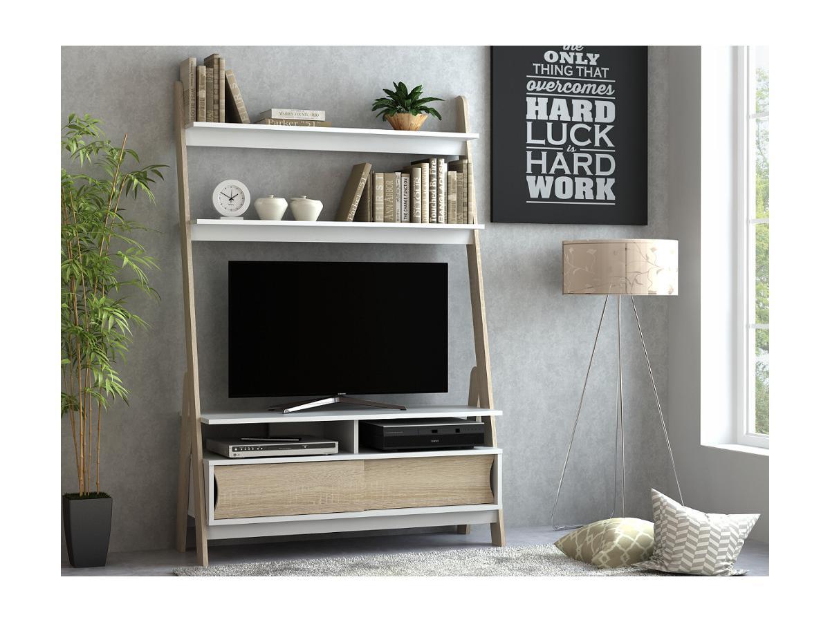 TV-Möbel mit Regal ESKALI - 2 Türen